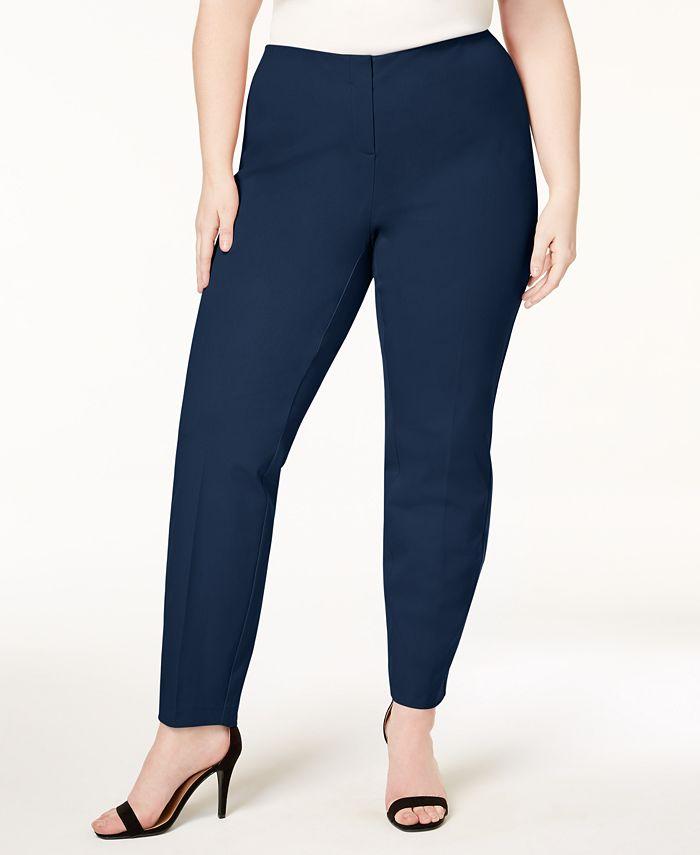 Alfani - Plus Size Comfort Waistband Skinny Pants