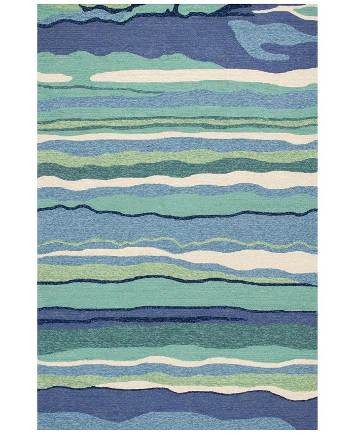 "Kas - Harbor Lagoon 4216 Ocean 5' x 7'6"" Indoor/Outdoor Area Rug"