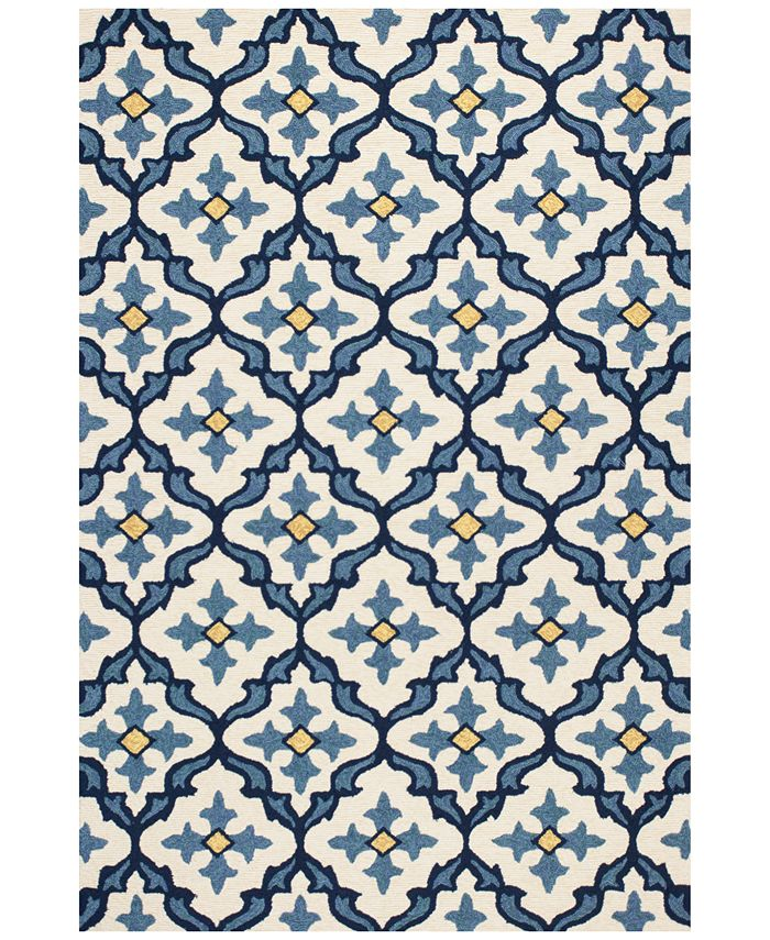"Kas - Harbor Mosaic 7'6"" x 9'6"" Indoor/Outdoor Area Rug"