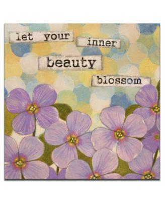 "'Confirmation I' Floral Canvas Wall Art - 20"" x 20"""