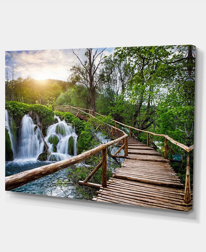 Design Art Designart Pathway In Plitvice Lakes Photography Canvas Art Print 32 X 16 Reviews Wall Art Macy S