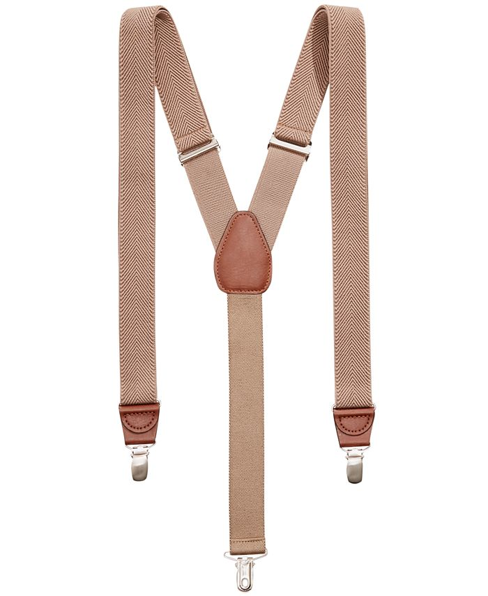 Club Room - Men's Chevron Suspenders