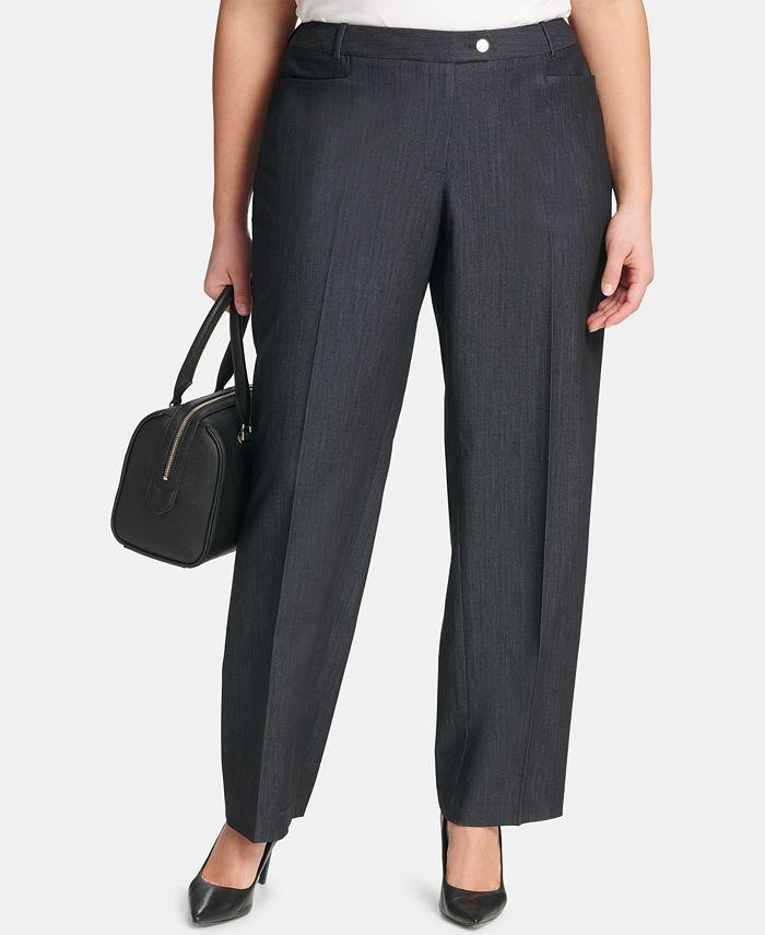 Calvin Klein - Plus Size Straight-Leg Pants