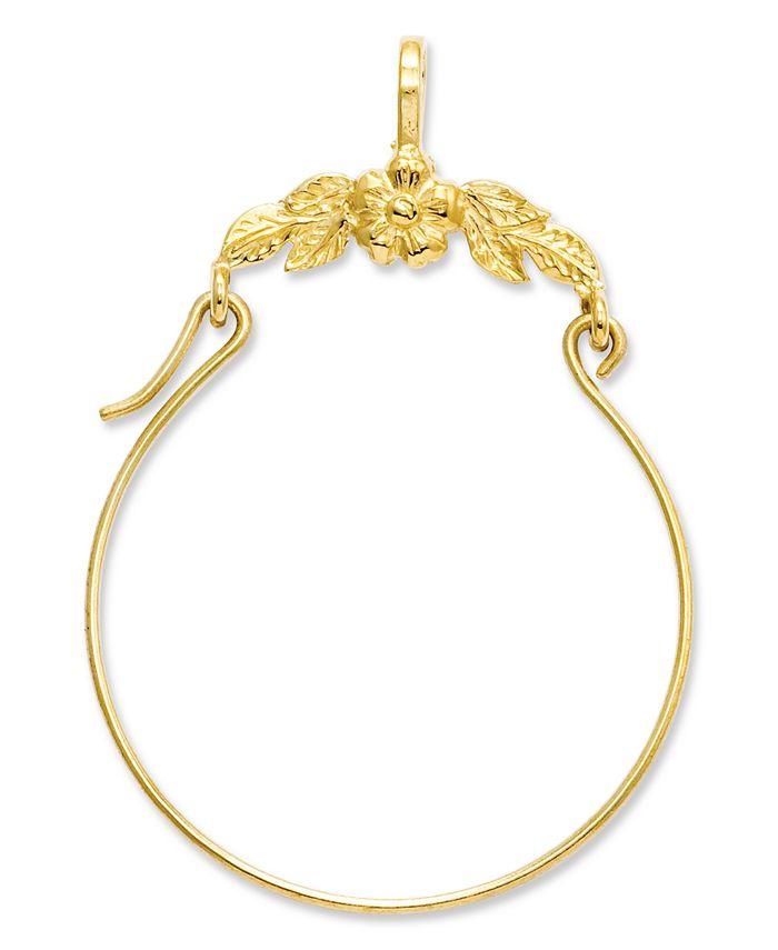 Macy's - 14k Gold Charm Holder, Polished Floral Charm Holder