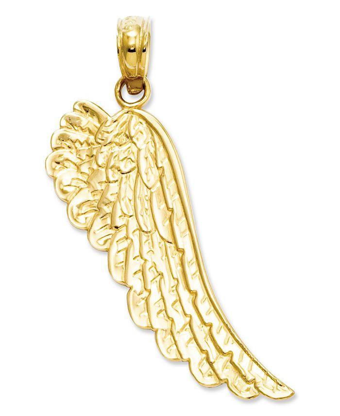 Macy's - 14k Gold Charm, Angel Wing Charm