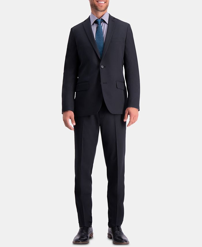 Haggar - Men's Active Series Herringbone Slim-Fit Suit Jacket