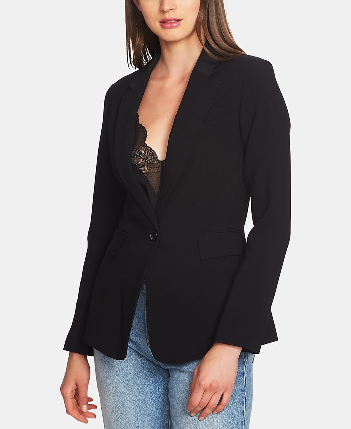 1.STATE - Classic Crepe One-Button Jacket