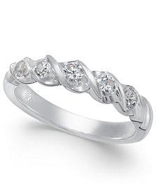 Diamond Twist Ring (1/2 ct. t.w.) in 14k White Gold