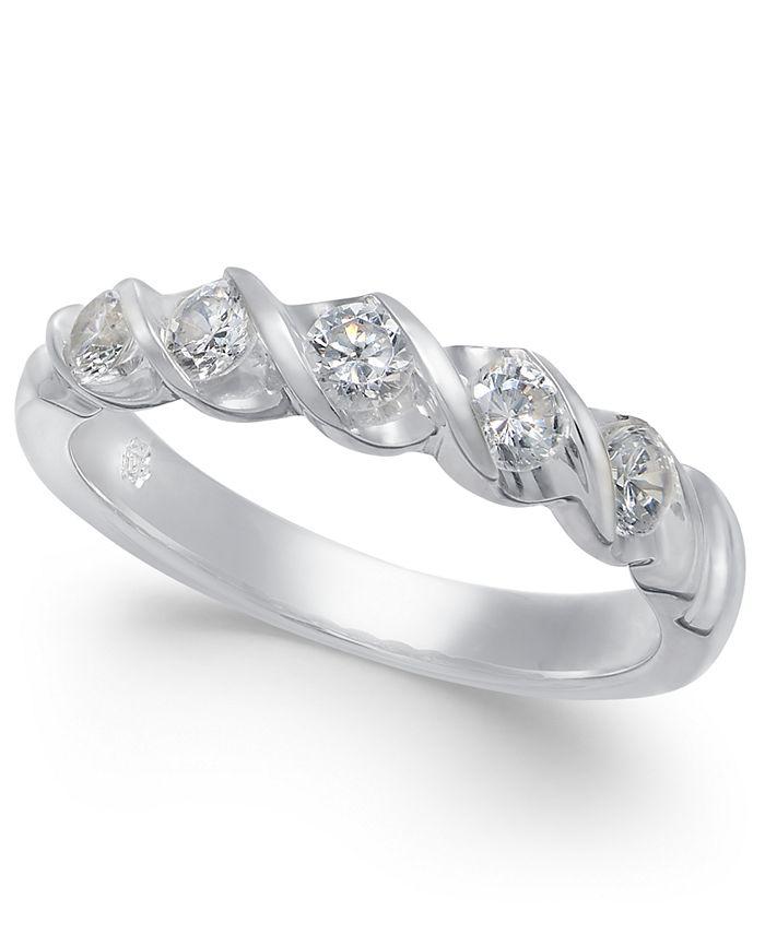 Macy's - Diamond Twist Ring (1/2 ct. t.w.) in 14k White Gold