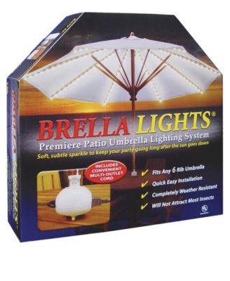 BRELLA LIGHTS - Patio Umbrella Lighting System With Power Pod, 6-Rib Model