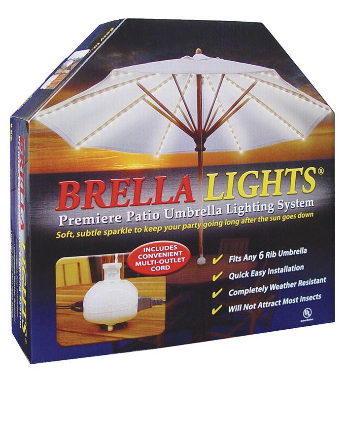 Blue Star Group - BRELLA LIGHTS - Patio Umbrella Lighting System With Power Pod, 6-Rib Model