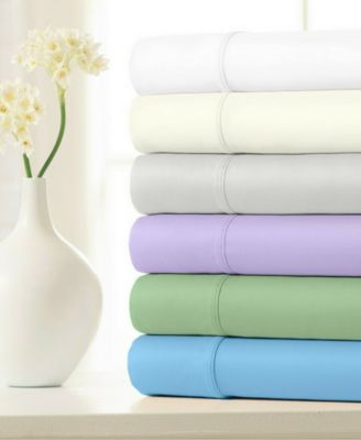 100% Cotton Sateen 500 Thread Count 4-Piece Sheet Set - Queen