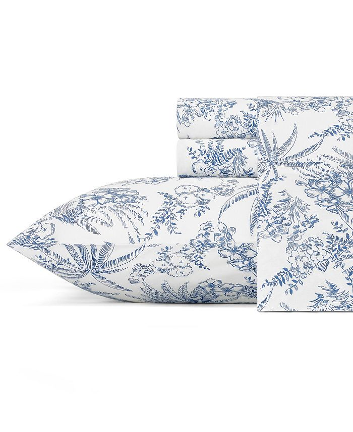 Tommy Bahama Home - Tommy Bahama Pen and Ink Palm California King Sheet Set
