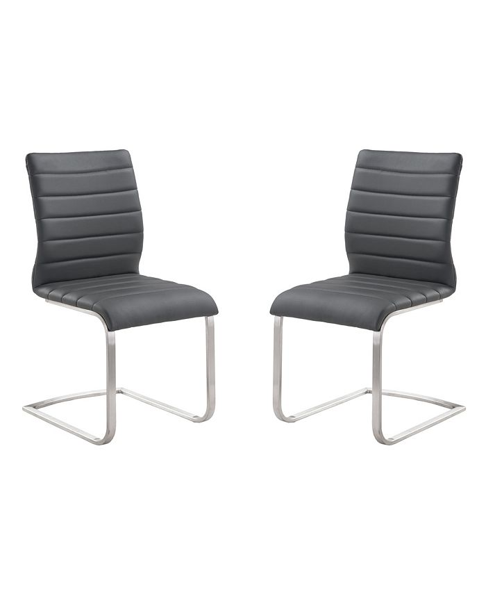 Armen Living - Fusion Side Chair (Set of 2), Quick Ship