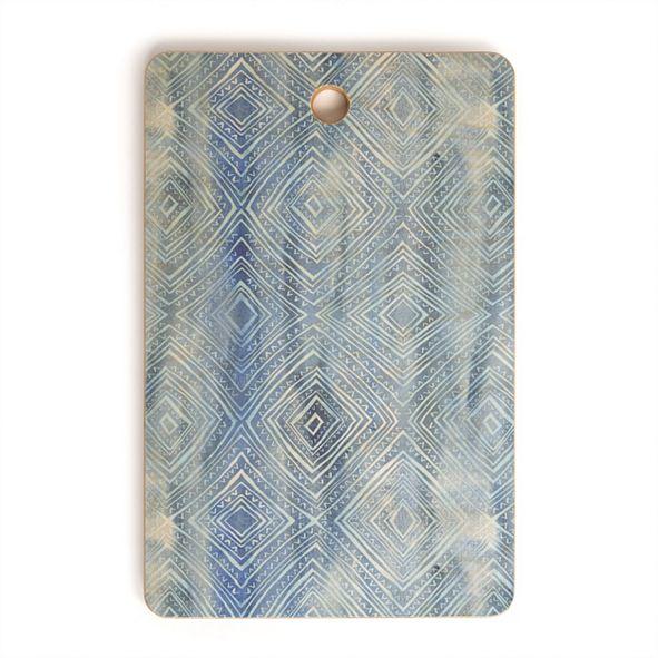 Deny Designs Drawn Diamond Chambray Rectangle Cutting Board