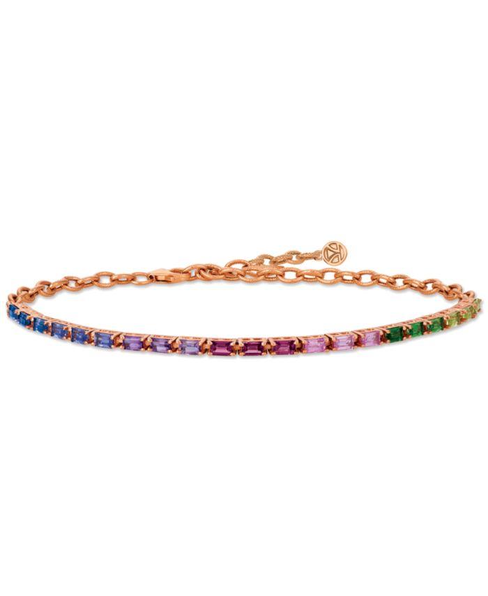 Le Vian Multi Gemstone Rainbow Bracelet in 14k Strawberry Gold® & Reviews - Bracelets - Jewelry & Watches - Macy's