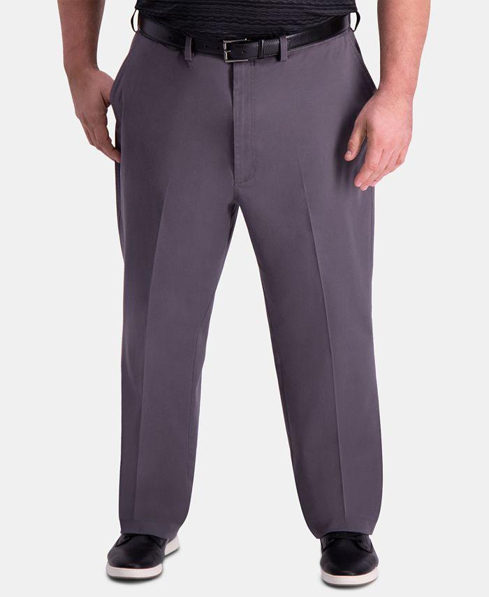 Haggar - Men's Big & Tall Classic-Fit Khaki Pants