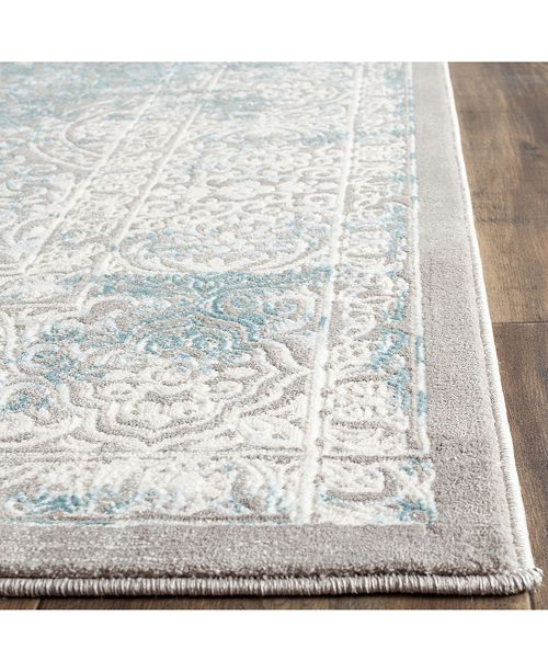 Safavieh Passion Turquoise And Ivory 8 X 11 Area Rug Reviews Rugs Macy S