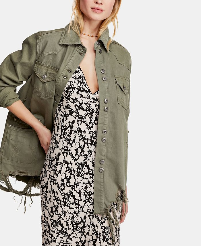 Free People - Moonchild Cotton Denim Shirt Jacket