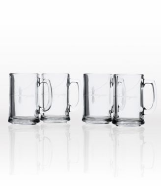 Fly Fishing Beer Mug 16Oz- Set Of 4 Glasses