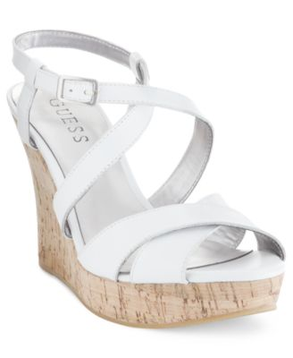 GUESS Womens Shoes Pernella Platform Wedge Sandals Womens Shoes