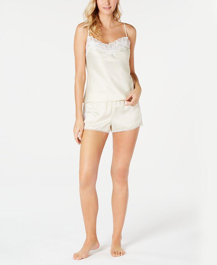Linea Donatella - Caterina Lace-Trim Camisole Top & Shorts Pajama Set