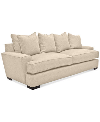 """Furniture Ainsley 101"""" Fabric Sofa With 4 Toss Pillows, Created For Macy"""