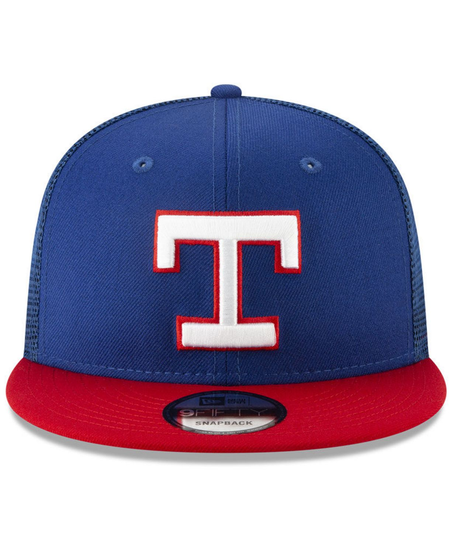 New Era Texas Rangers Coop All Day Mesh Back 9FIFTY Snapback Cap & Reviews - Sports Fan Shop By Lids - Men - Macy's