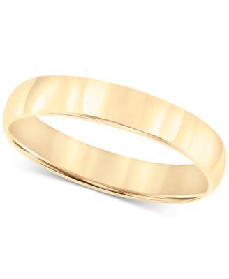 14k Gold 4mm Wedding Band