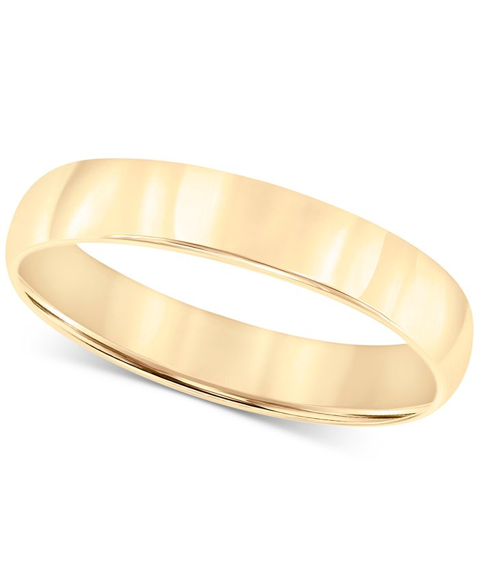 Macy's - 14k Gold Ring, 4mm Wedding Band