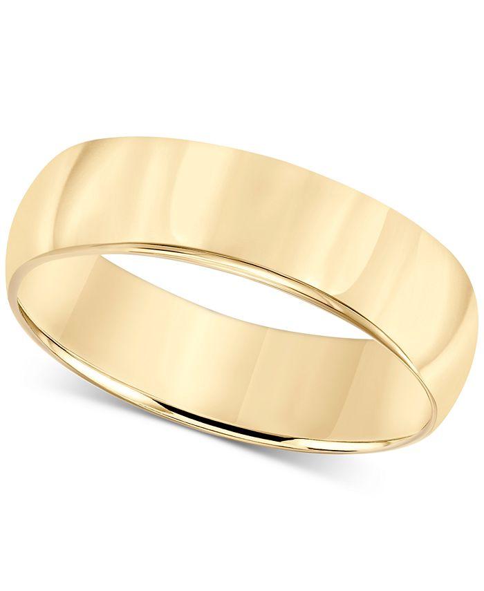 Macy's - 14k Gold Ring, 6mm Wedding Band