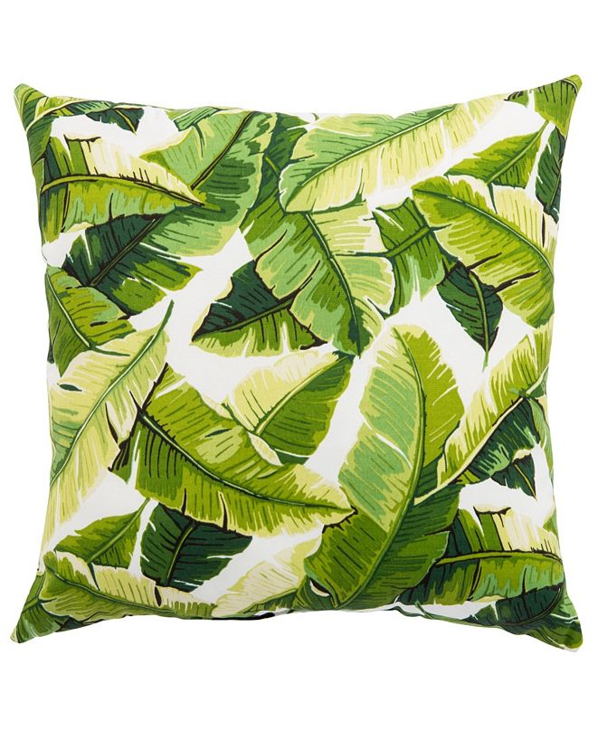 Jaipur Living Balmoral White/Green Floral Indoor/ Outdoor Throw Pillow 20""