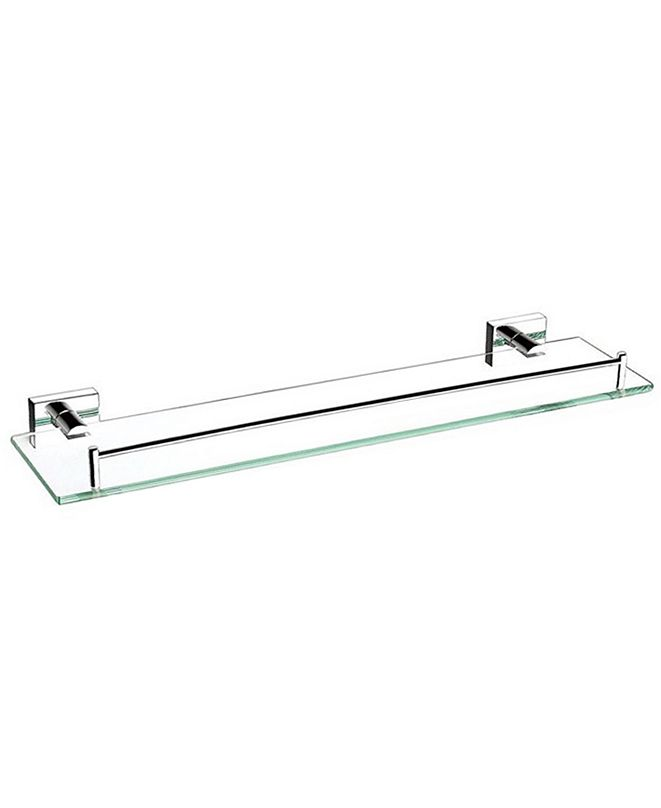 "Nameeks General Hotel 20"" Glass Shelf With Chrome Mounting"