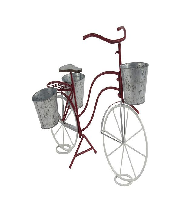Rosemary Lane Eclectic Tin Bicycle Plant Stand