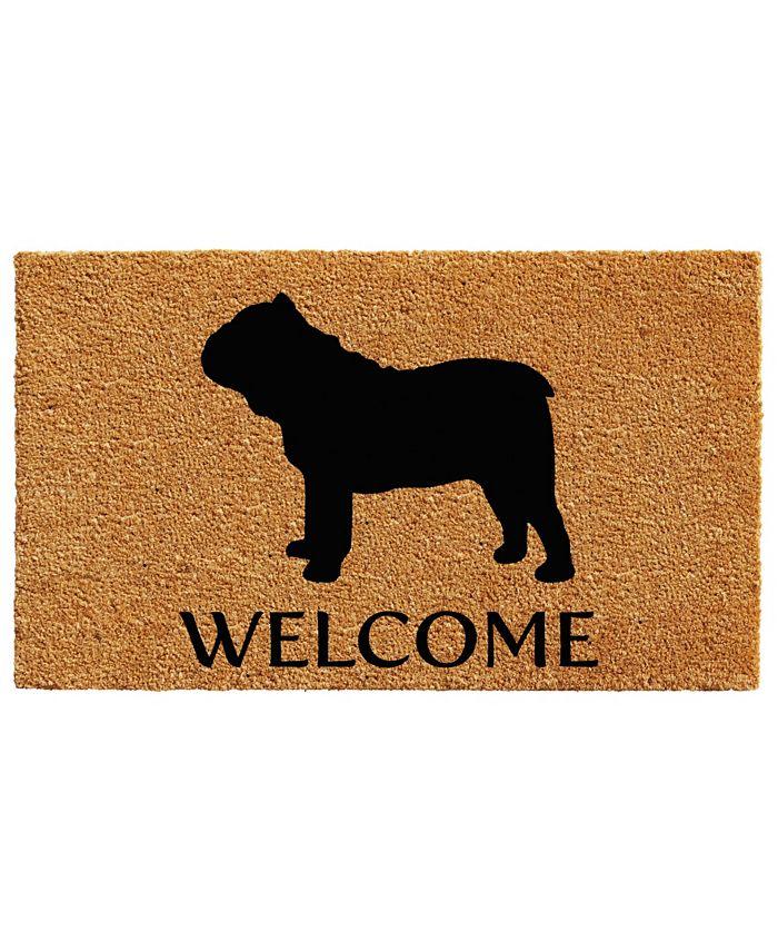 """Home & More - Bull Dog 17"""" x 29"""" Coir/Vinyl Doormat"""