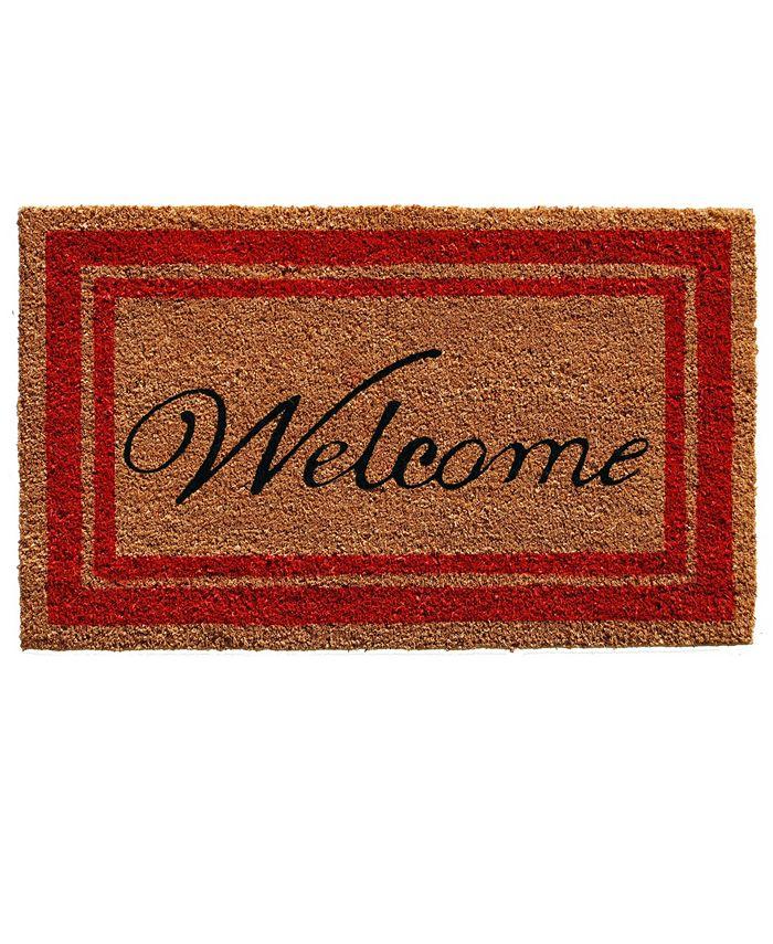 """Home & More - Border Welcome 24"""" x 36"""" Coir/Vinyl Doormat"""