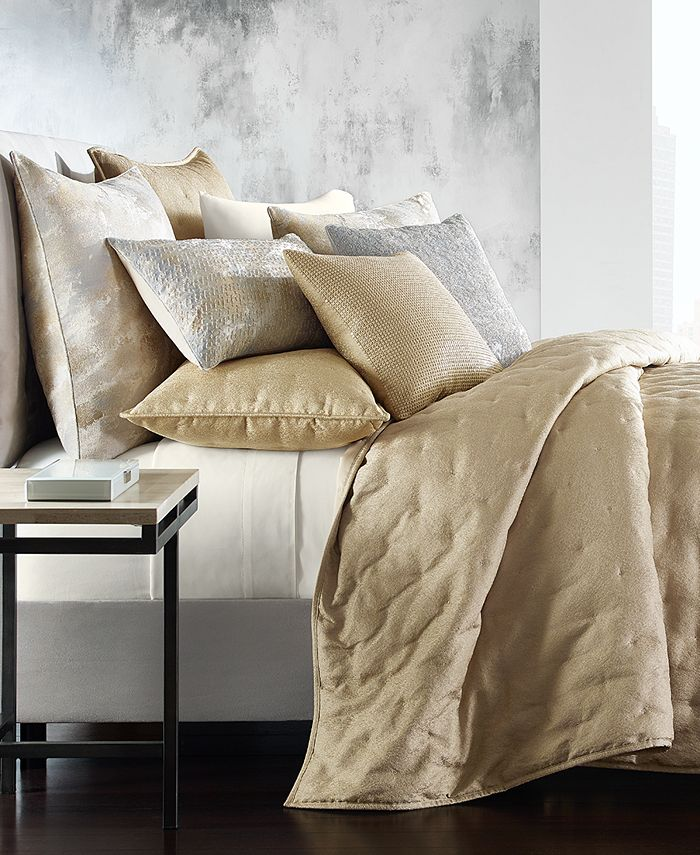 Hotel Collection - Metallic Stone King Coverlet