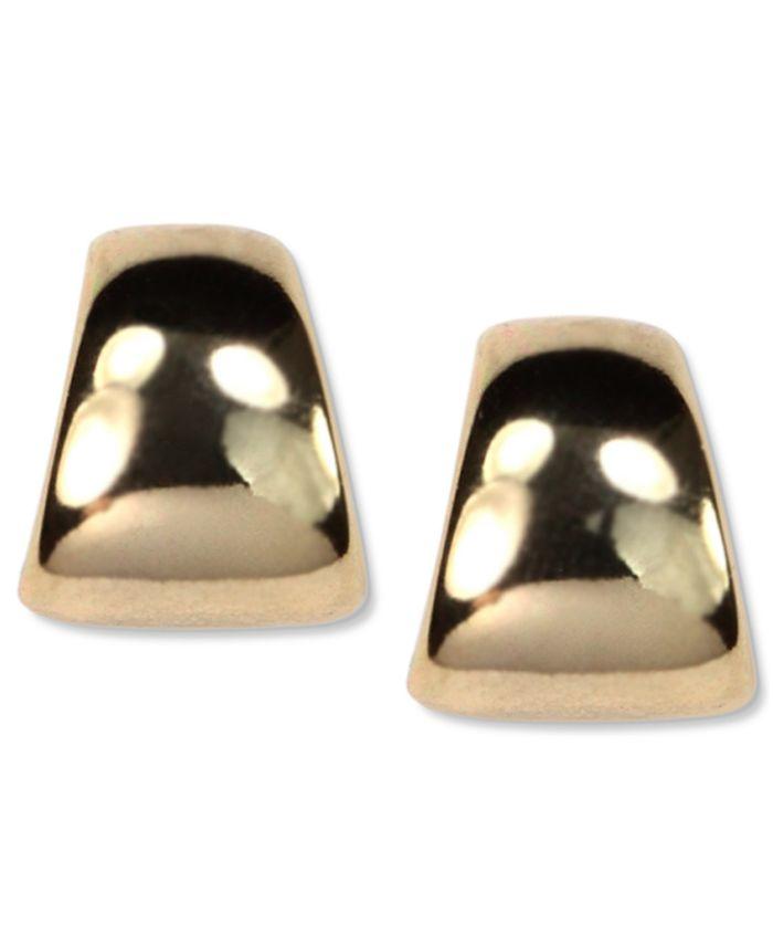 Anne Klein - Gold-Tone Button Post Earrings