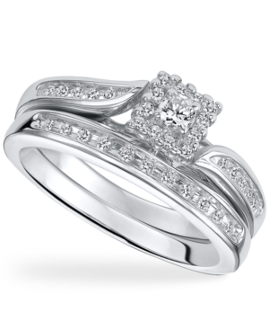 Diamond Ring Set, Sterling Silver Diamond Engagement Ring Set (1/4 ct. t.w.)