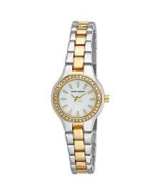 Laura Ashley Gold Mini Link Crystal Bezel Bracelet Watch