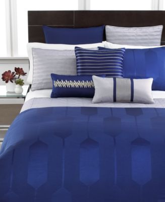 Hotel Collection Links Cobalt Queen Duvet Cover
