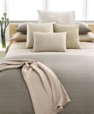 CLOSEOUT! Calvin Klein Home Studio Dash Thorn Dune Mini Wave Queen Quilt