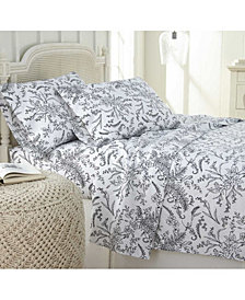 Southshore Fine Linens Ultra-Soft Floral or Solid 4-Piece Sheet Set