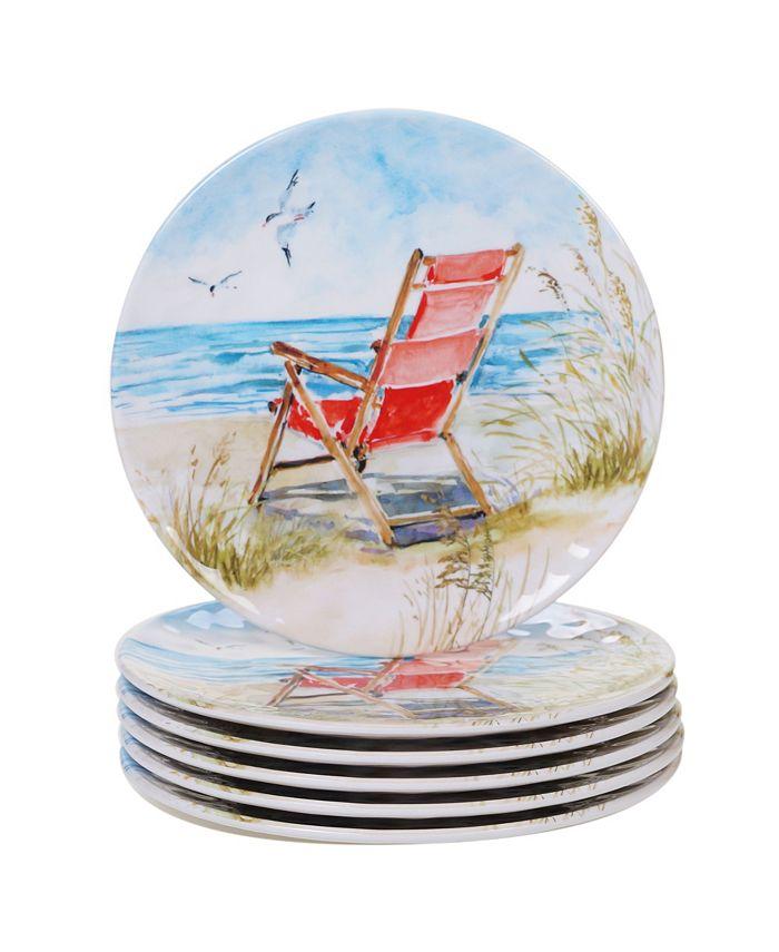 Certified International - Ocean View 6-Pc. Salad Plate Set