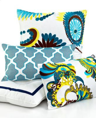 "CLOSEOUT! Trina Turk Bedding, Stones Abstract 12"" x 20"" Decorative Pillow"