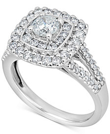 Diamond Engagement Ring (1-3/8 ct. t.w.) in 14k White Gold