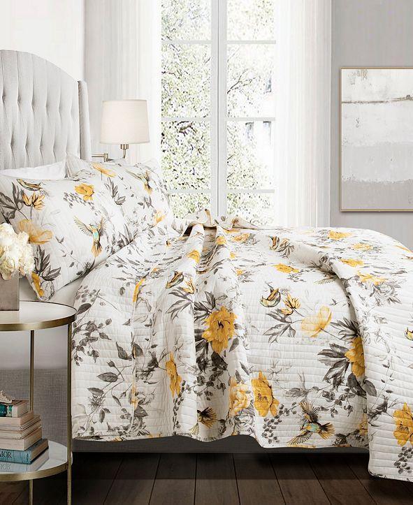 Lush Decor Penrose Floral 3-Pc. Full/Queen Quilt Set