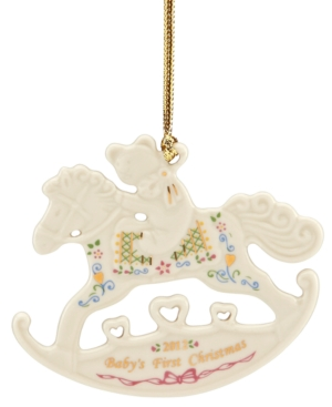 Lenox Christmas Ornament, Exclusive 2012 Baby's First Rocking Horse
