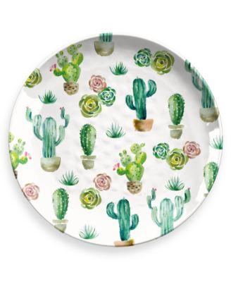 """Desert Garden Round Platter, 14"""", Melamine, Set of 1"""