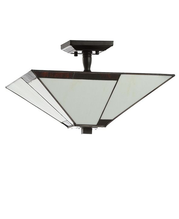"JONATHAN Y Julian 15.7"" Tiffany-Style LED Semi-Flush Mount"